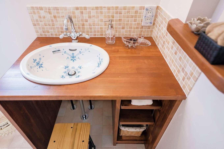 Art Wood Home (永建)【省エネ、収納力、インテリア】収納力抜群の造作の洗面台