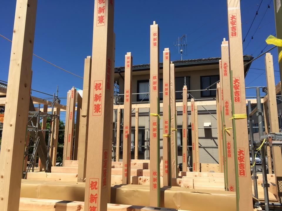 家でもっとも重要な構造には、地元大井川産材を使用
