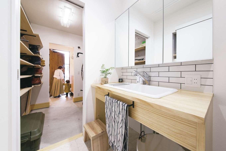 SEVEN HOUSE/セブンハウス【デザイン住宅、子育て、間取り】子ども達の手洗いうがいの習慣も自然と身に付く間取りに