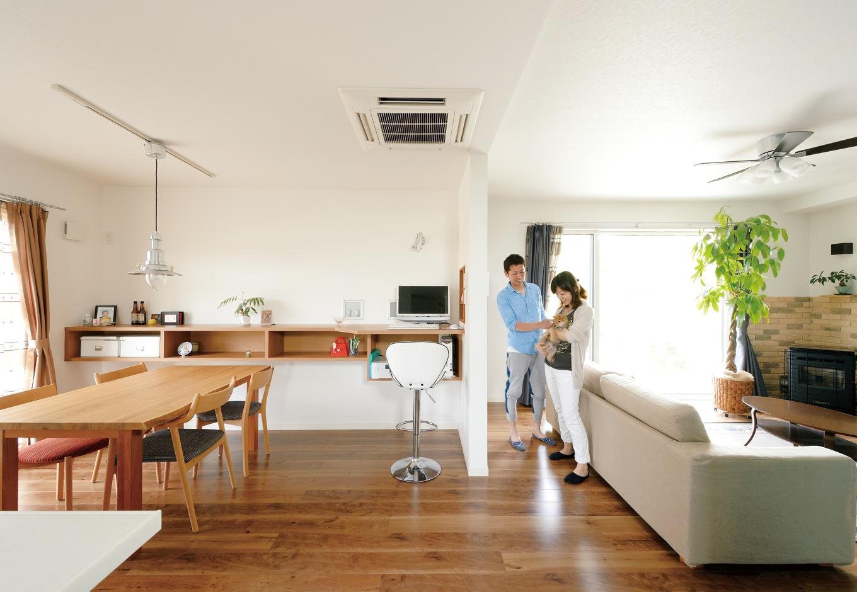 家事がはかどる間取りと、 リゾートチックな非日常空間
