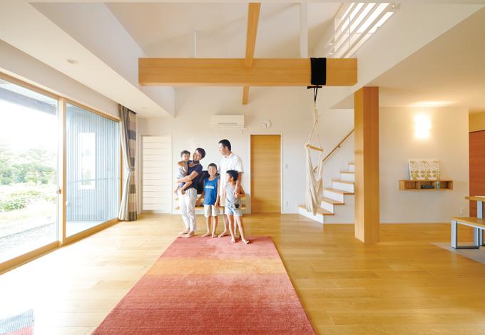 家族・ゲストを温かく迎える 癒しの快適空間を実現