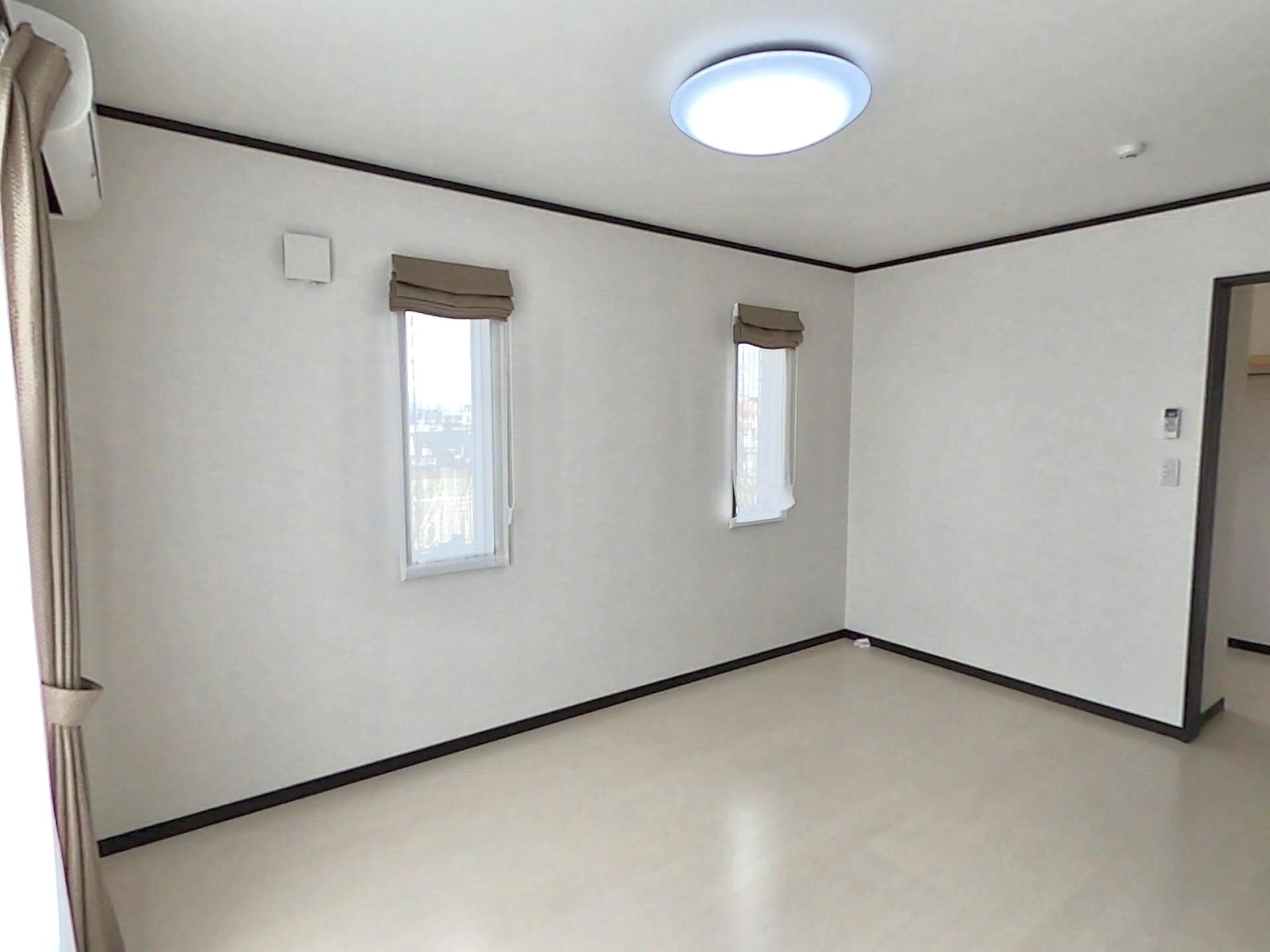 ハウジング松本【浜松市南区中田島町544-1・モデルハウス】2Fのスペースの1室。2Fには4部屋確保し、子供部屋や寝室として多目的に使える