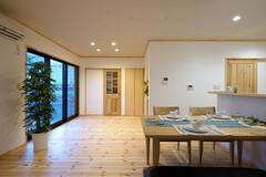 漆喰・天然木のぬくもりが家族をつつみこむ家