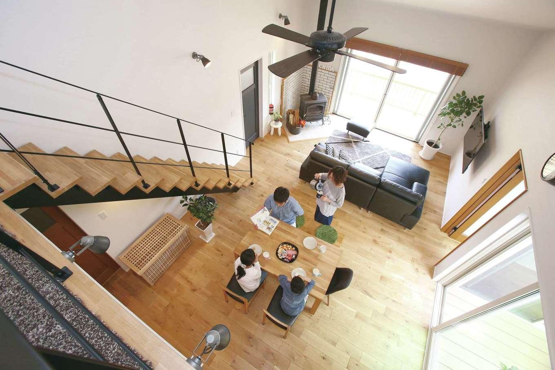 片桐建設【間取り、デザイン住宅、省エネ】世界トップレベルの断熱材「ネオマフォーム」を採用。冬は薪ストーブ1台で家中ぽっかぽか