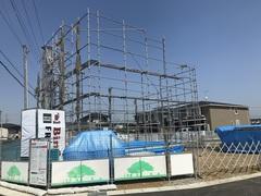 新モデルハウス 足場組立完了