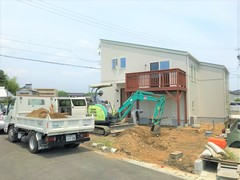 長池モデルハウスA棟 外構工事が始まりました!