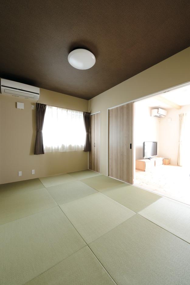 内田建設【収納力、間取り、建築家】将来的に両親と同居することも考えて和室を確保。今は子どものプレイルーム