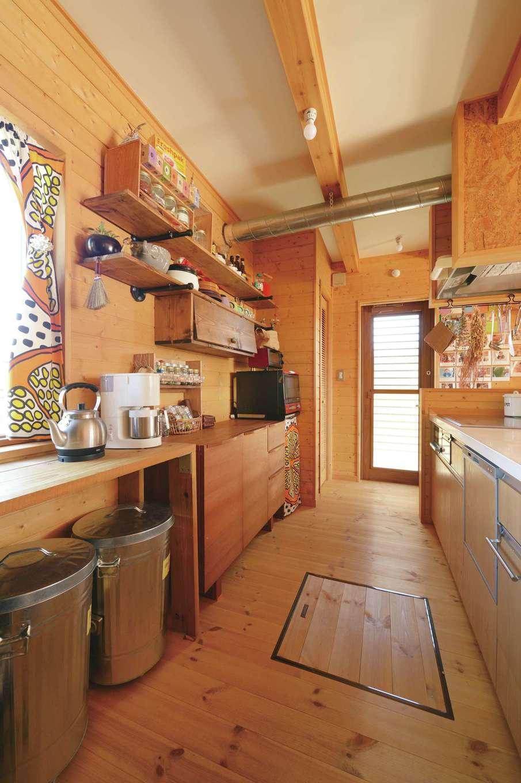 BESS浜松【デザイン住宅、子育て、趣味】庭で遊ぶ子どもたちを見ながら料理できるキッチンが奥さまのお気に入り