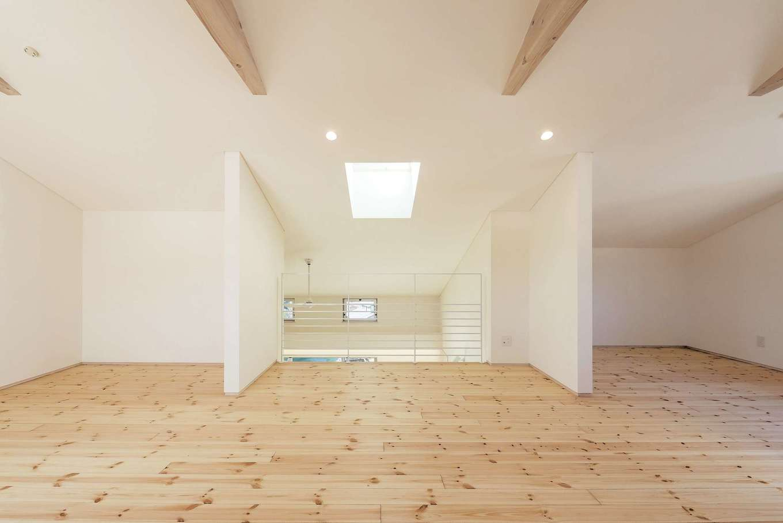 建杜 KENT(大栄工業)【和風、間取り、建築家】2階は子どもの成長に応じて、間仕切り可能なフリースペース