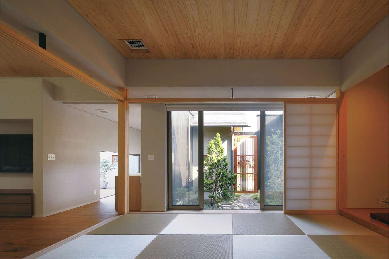 丸昇彦坂建設【デザイン住宅、自然素材、建築家】もう1つの中庭に面した本格和室