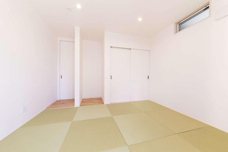小玉建設【デザイン住宅、子育て、間取り】和室は将来、ご両親の居室になる予定