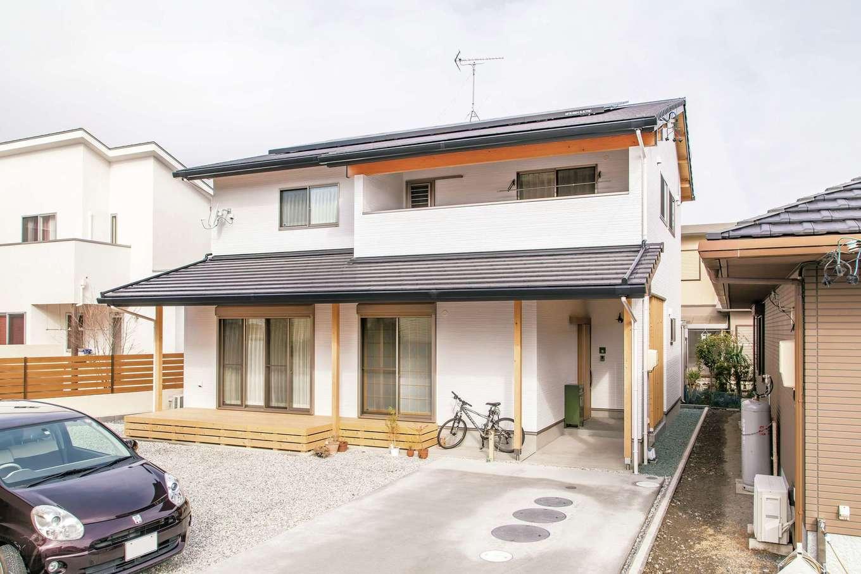 小玉建設【デザイン住宅、和風、自然素材】軒が深いので日差しがほどよく差し込む