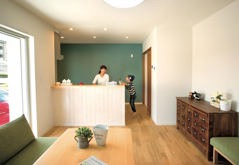家事がもっと楽しくなる ナチュラルなカフェ風空間