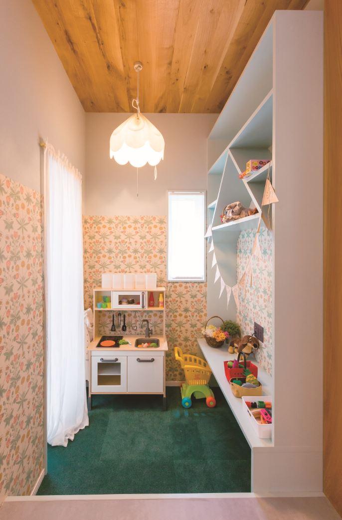 タツミハウジング【豊川市伊奈町前山19-12・モデルハウス】場内にはキッズコーナーがあるので、子ども連れでもゆっくり見学できる。子ども部屋づくりの参考にもなりそう