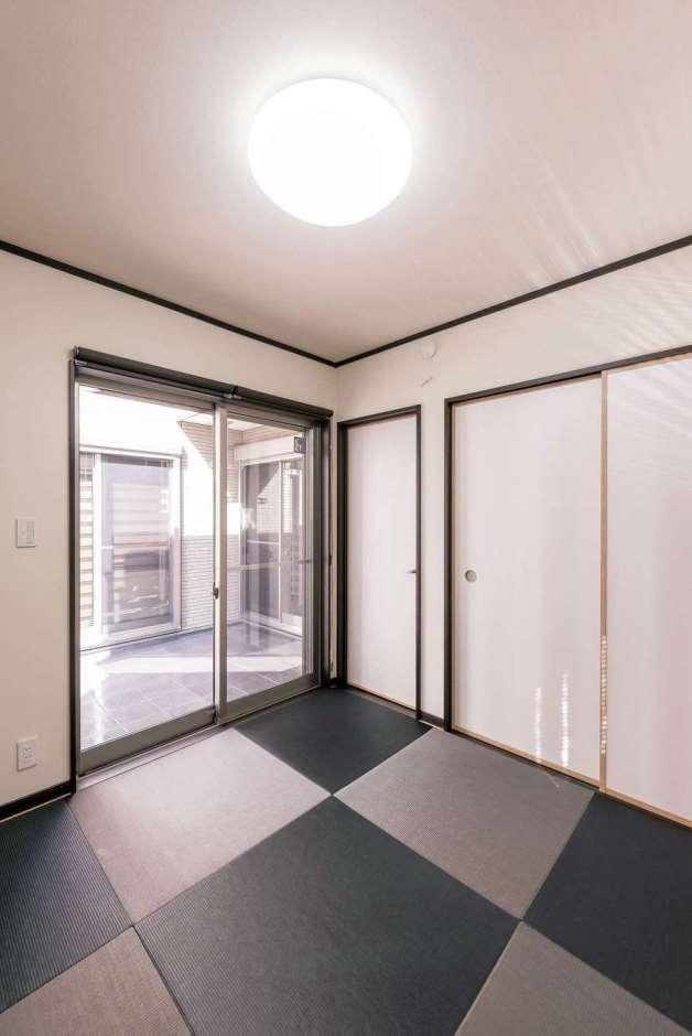 irohaco (アヴァンス)【収納力、間取り、趣味】和室からも、リビングへと続く廊下からもテラスに出られる