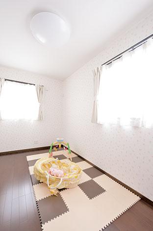 irohaco (アヴァンス)【1000万円台、デザイン住宅、子育て】子ども部屋のクロスは奥さまのこだわり