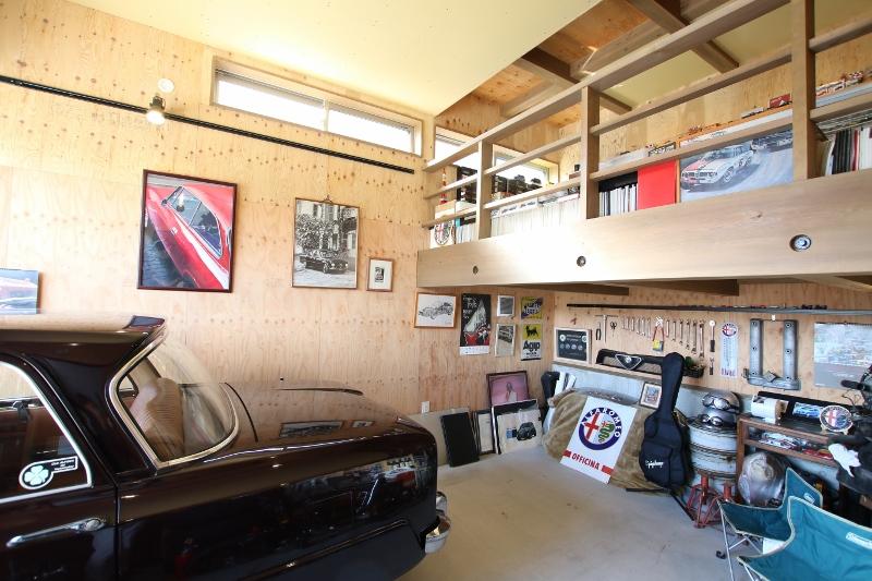 Select工房【デザイン住宅、趣味、ガレージ】ご主人の趣味のためのインナーガレージ