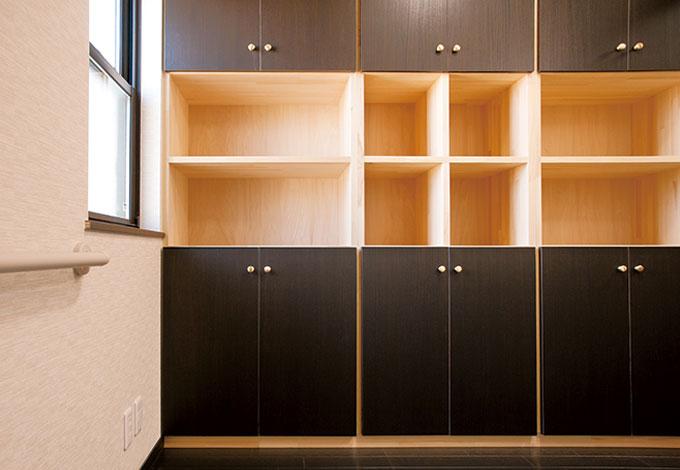 隆勝工務店【収納力、和風、省エネ】洗面室の大容量収納は奥さまの希望通りに
