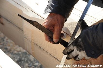 標準仕様 ひのき七寸通し柱 ㈱カネタケ竹内建築のこだわり
