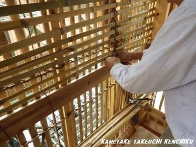 天然素材100%の断熱材 竹小舞土壁 ㈱カネタケ竹内建築のこだわり