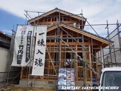 施工中!竹小舞土壁下地 天然素材100%の断熱材  ㈱カネタケ竹内建築のこだわり