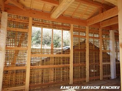 施工中!夏は涼しく冬は暖かい! 湿度も自然に調節する「土壁」を使った家づくり ㈱カネタケ竹内建築のこだわり