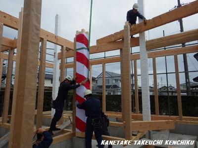上棟風景!建てる前にぜひこの骨太構造をご覧ください!㈱カネタケ竹内建築の舞台裏!!