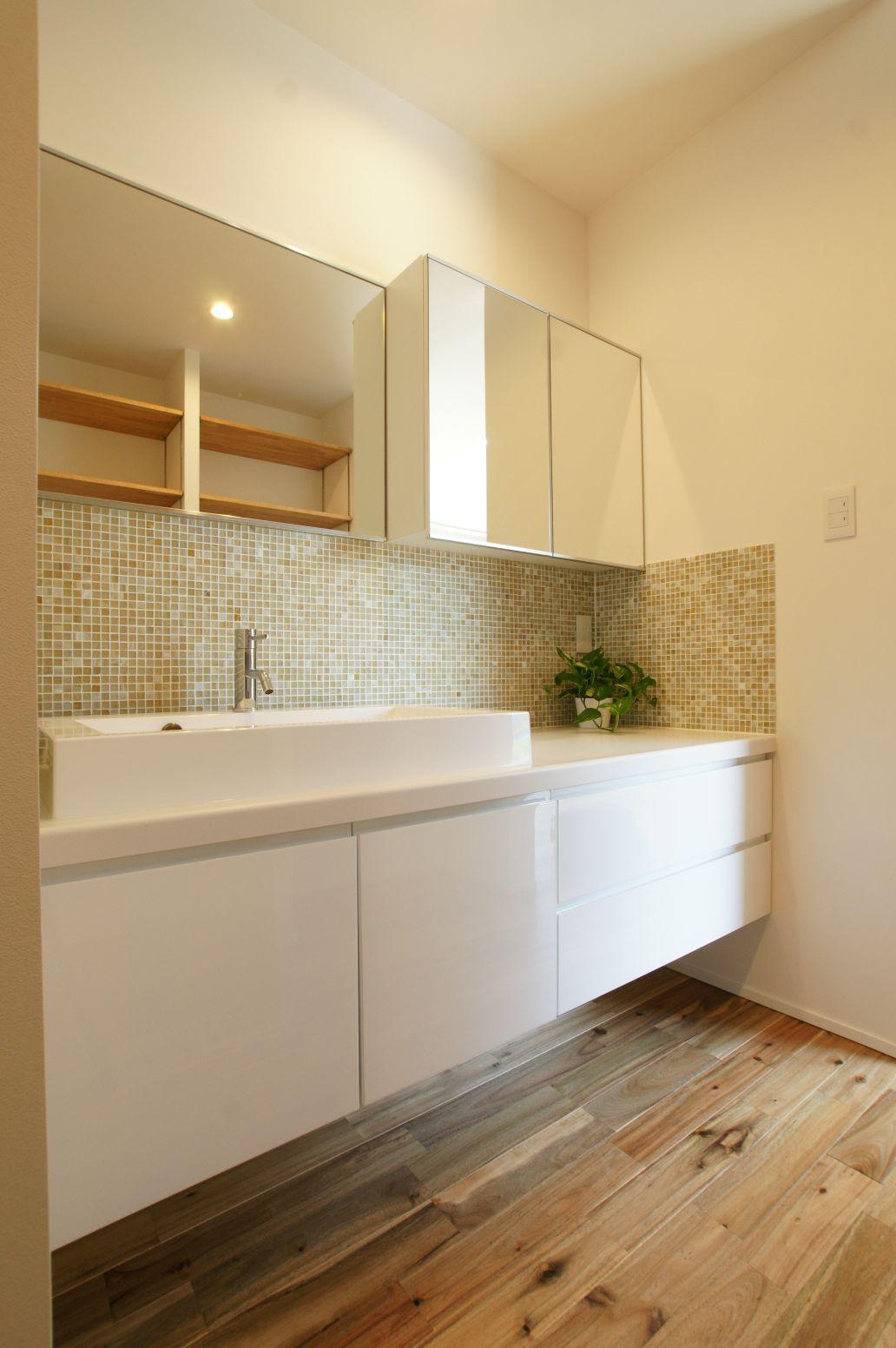 RIKYU (リキュー)【デザイン住宅、建築家、インテリア】デザイン性の高い洗面は家に合う物をコーディネート