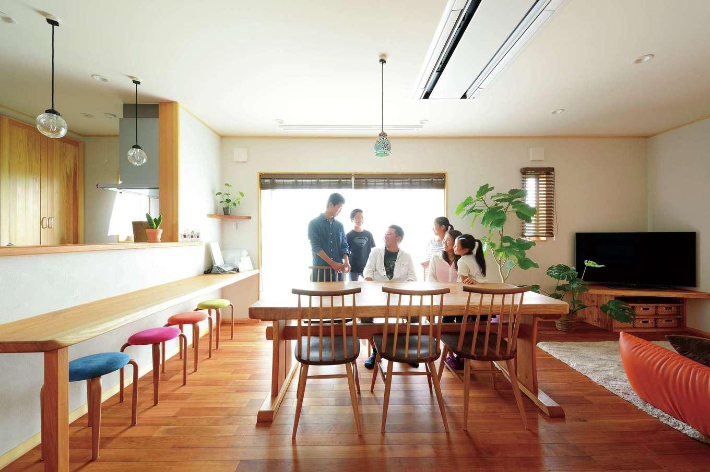 上質な国産無垢材と自然素材がすこやかな笑顔をもたらす家