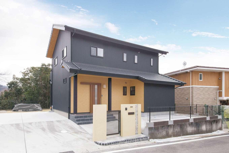 深見工務店 S-style【子育て、収納力、自然素材】静かな住環境に溶け込んだ、和モダンスタイルの外観