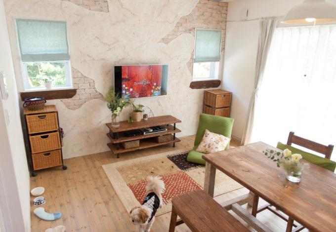 シバタ建設【デザイン住宅、収納力、趣味】無垢の木、漆喰、ガラス、布、アイアン・・・、ほっこり寛げるカフェのような空間