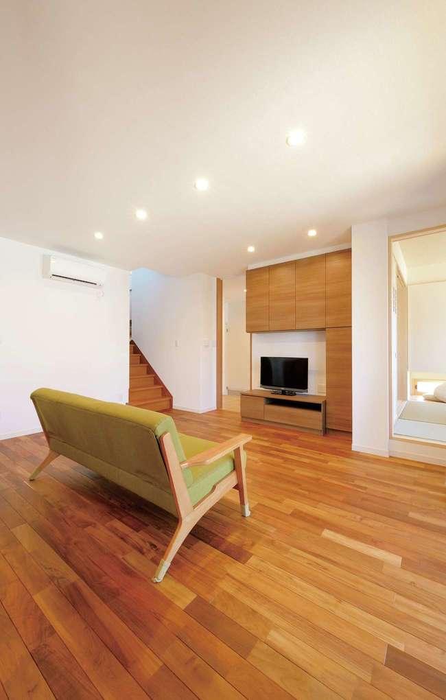 Yamaguchi Design 【デザイン住宅、自然素材、省エネ】熱交換型換気システムのおかげで、花粉やPM2.5の影響も最少限に