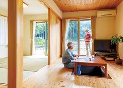自然と繋がり、丁寧に暮らすシンプルで美しい平屋の家