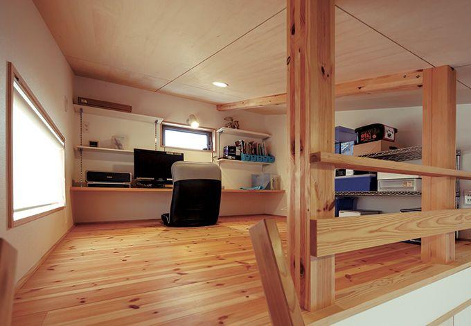 あだちの家。足立建築【デザイン住宅、省エネ、間取り】ジャストサイズの書斎は、ご主人も大満足のスペース