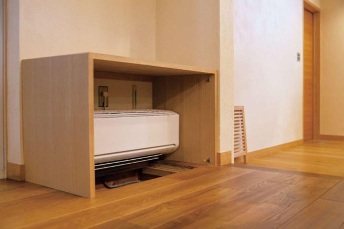 足元からほんのり温め除湿する 「SHIN-EI 床下エアコン」