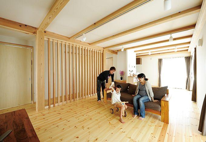 """自由に間取りを""""編集""""できる遠州型「木造ドミノの家」"""