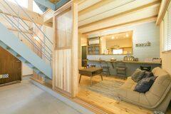 ワンちゃんと暮らすカフェスタイルの家