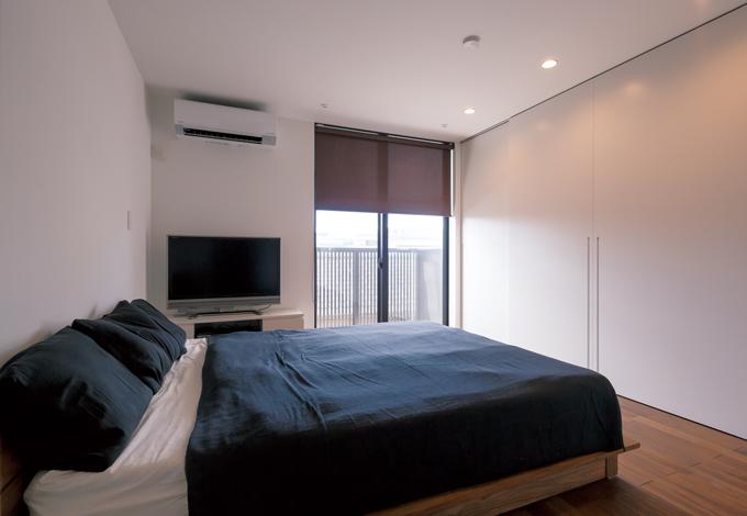 インフィルプラス【デザイン住宅、収納力、間取り】2階バルコニーで洗濯物を干すため、南側に寝室を設置