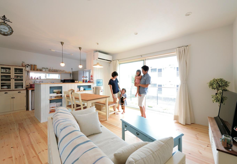 新築後の豊かな暮らしを実現 カントリー調のかわいい家