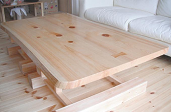 造作用の木材も施主さんと選ぶ