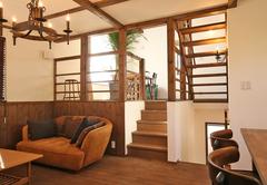 空も楽しめるスキップフロアの家 - STEP HAUS -
