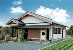 古き良き技法と優美な銘木を34坪に凝縮したむくり屋根の家