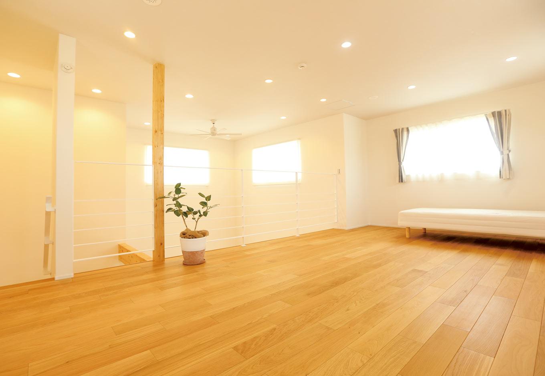 Asobi-創家(アソビスミカ)/ナカジツ【1000万円台、省エネ、建築家】2階はロフト的で開放感抜群。将来は子ども部屋として使用する予定