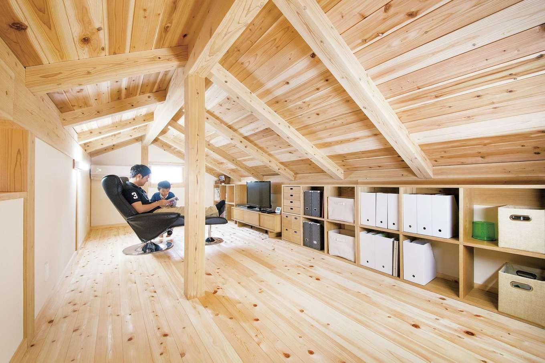 田畑工事【自然素材、省エネ、間取り】小屋裏のプライベートルームはご主人のお気に入り