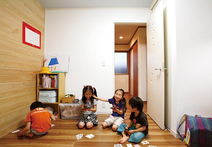 水田建設【1000万円台、子育て、収納力】念願のマイルームが持てたので子ども達も大喜び。いつも近所の友達が集い賑やかな笑い声が響き渡る