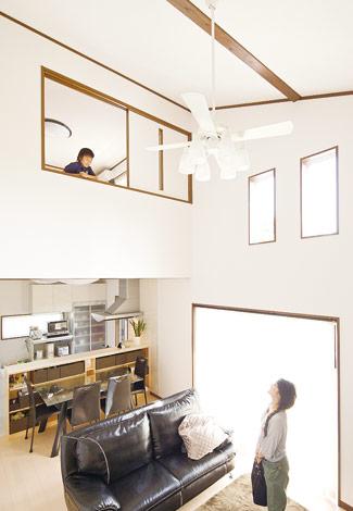 水田建設【1000万円台、二世帯住宅、間取り】家族がどこに居ても気配がわかる間取りが特徴