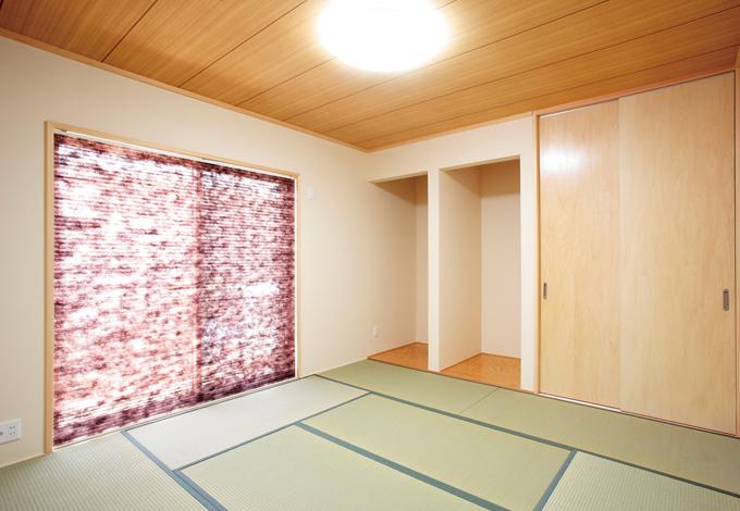 水田建設【収納力、省エネ、間取り】和室は将来両親と同居する可能性も考えて設けた