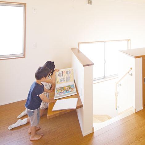 幹工務店【子育て、収納力、和風】将来的に間仕切りもできる2階ホール