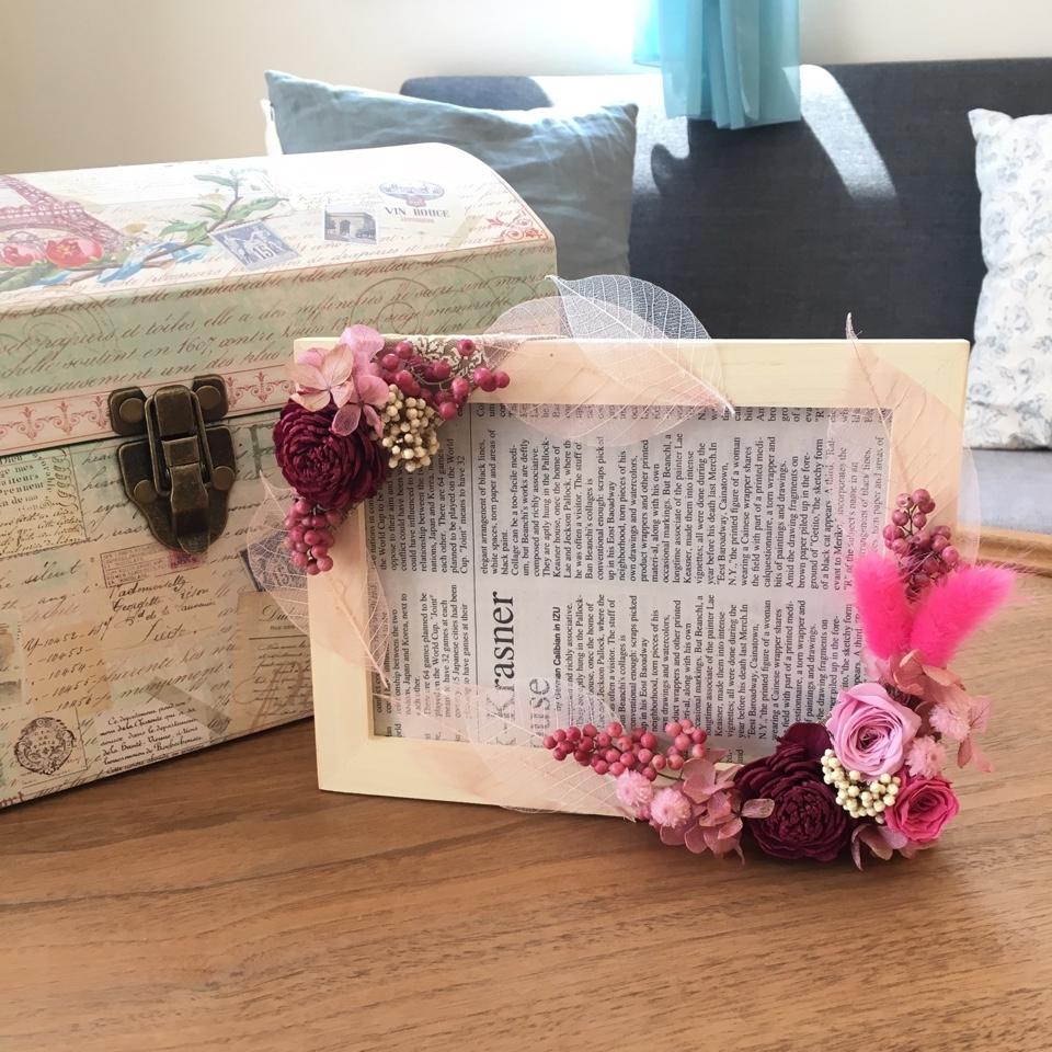 9/21(木)ベビーマッサージと花の写真立てつくり