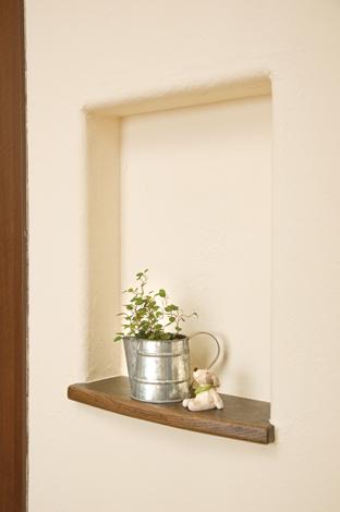 花みずき工房|塗り壁のニッチは奥様からのリクエスト